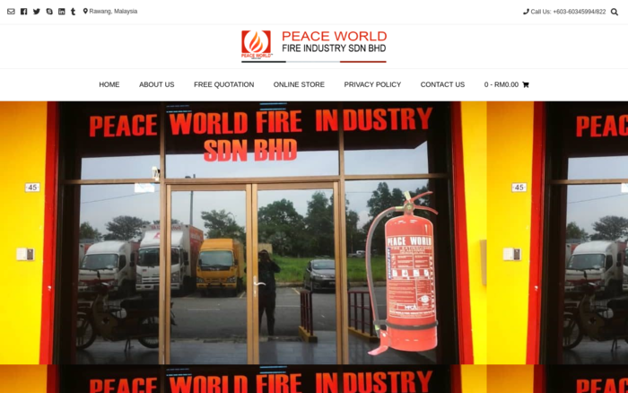 Fire Extinguisher Malaysia Supplier, Peace World Fire Industry Sdn Bhd