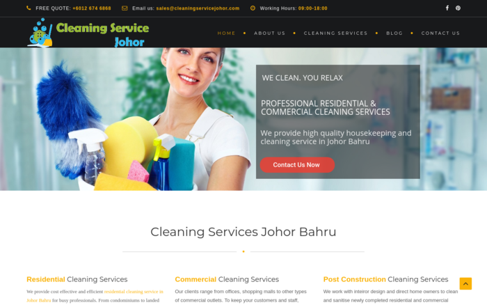 Cleaning Service Johor Bahru