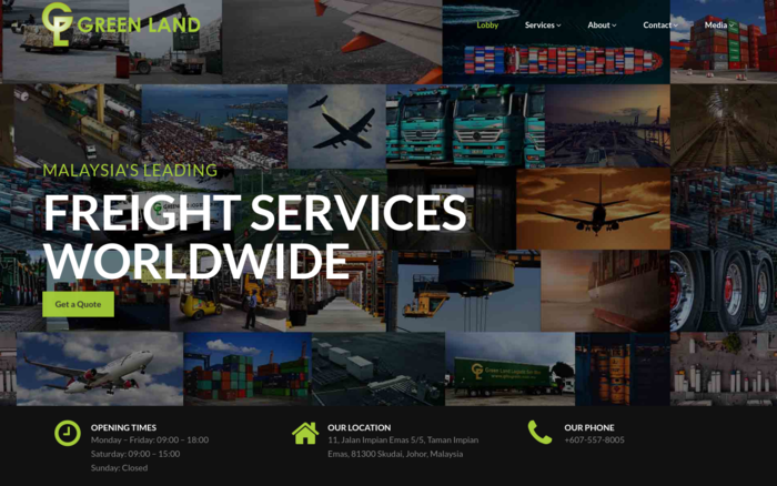 Green Land Logistic - Malaysia Website Awards 2018Malaysia Website