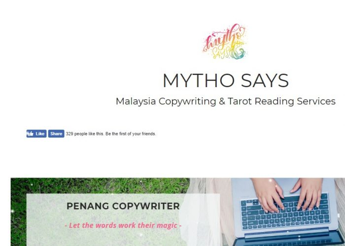 Mytho Says – Copy Writing & Tarot Reading