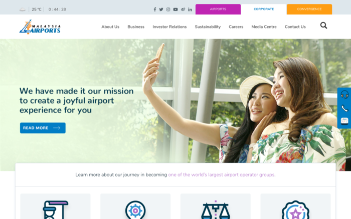 Malaysia Airports Corporate Website