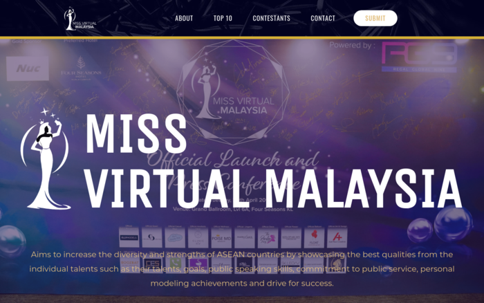 Miss Virtual Malaysia 2019 - Malaysia Website Awards