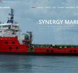 Corporate look website for one of the top vessel company in Malaysia
