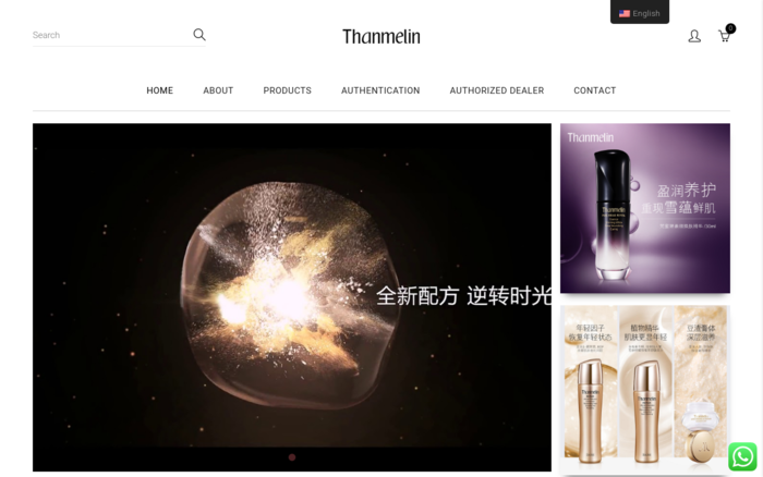 Thanmelin Malaysia eCommerce Website