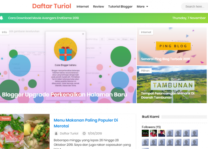 Daftar Turiol – Personal, Sabahan & Web Sharing
