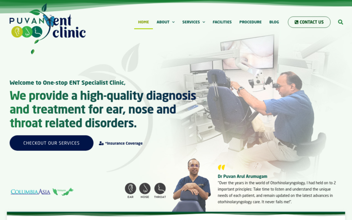 Dr Puvan – ENT Specialist Clinic (Ear Nose & Throat)