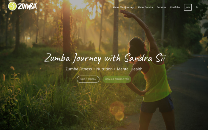 Zumba Journey with Sandra Sii
