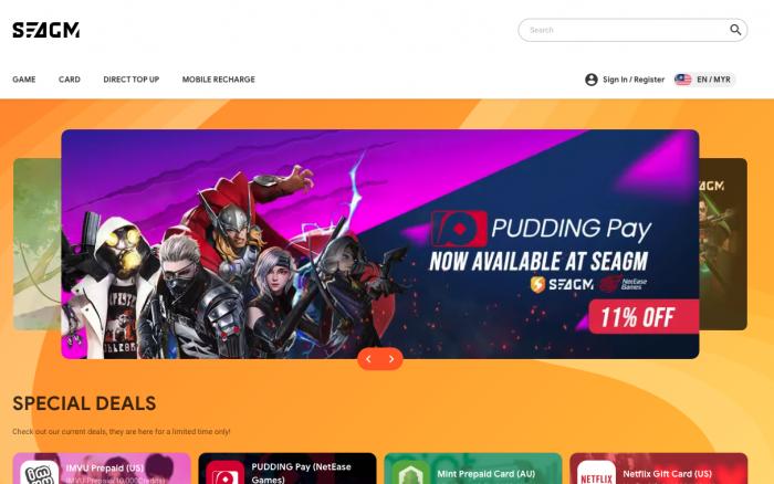 SEAGM – Global Digital Online Game Store | Game Top Up